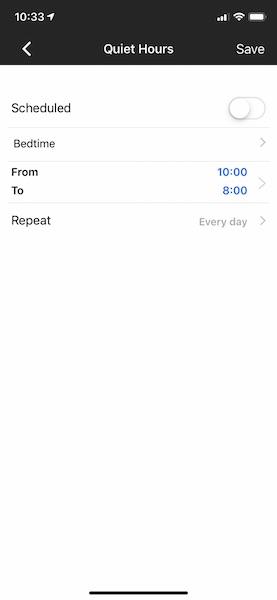 Innway app iOS quiet hours