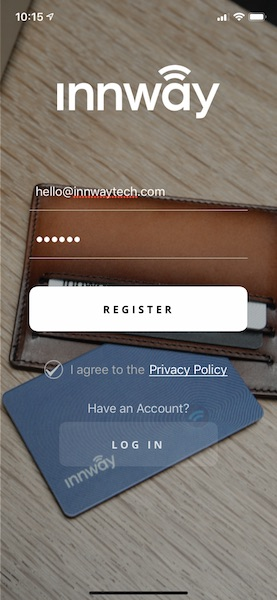 Innway app iOS register